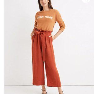 Madewell tie-waist huston pull-on crop pants